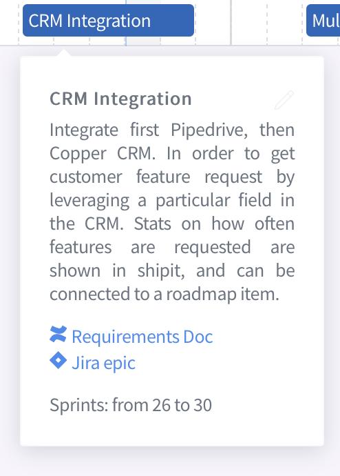 Jira Integration, shipit side